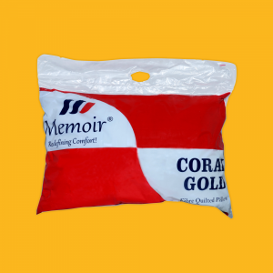 (Buy 1 Get 2 Free) Coral Gold Fibre Pillow